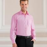 Pink work shirts