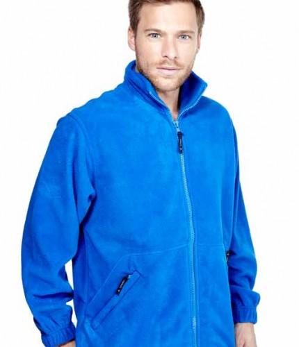 blue work fleece