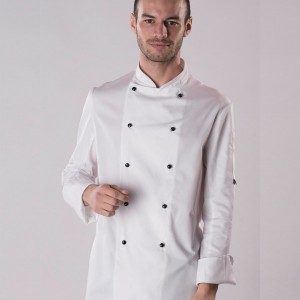 Dennys Long Sleeve Removable Stud Chef's Jacket