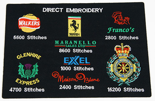 Embroidery examples